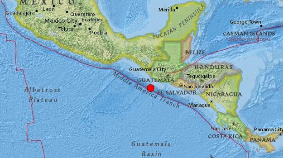 Terremoto de magnitud 5,6 en la centro-sur de Guatemala
