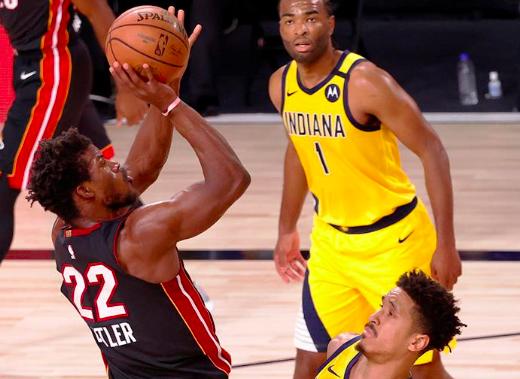 Butler y Dragic guiaron la victoria del Heat ante Pacers en el primero de los playoffs