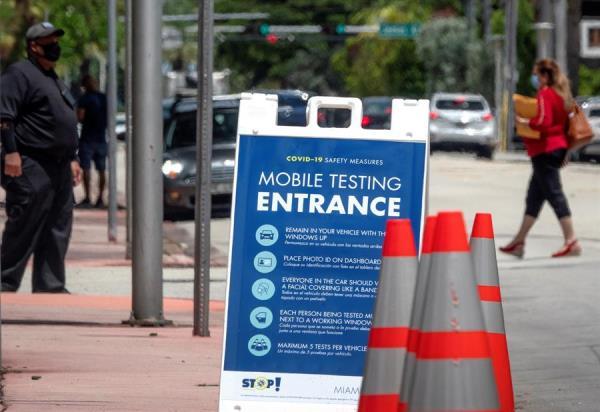 Tasa de positivos diarios de COVID-19 se reduce a 5,15 % en Florida