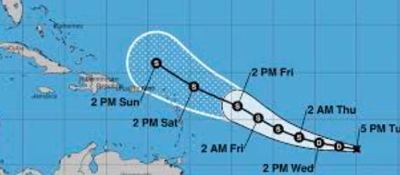 Se forma depresión tropical cerca de Florida que podría escalar a tormenta