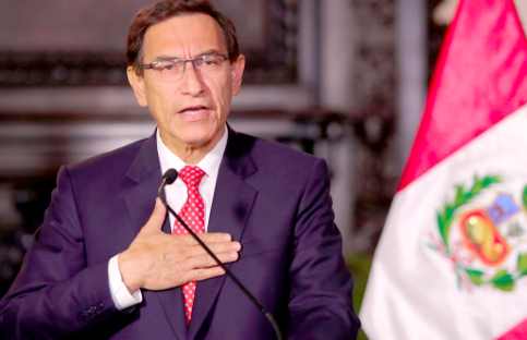 Congreso peruano admite debatir la destitución del presidente Vizcarra