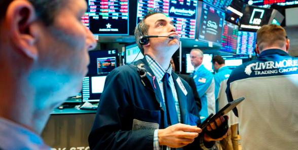 Wall Street cierra en rojo y el Dow Jones baja 0,47 % en una jornada volátil