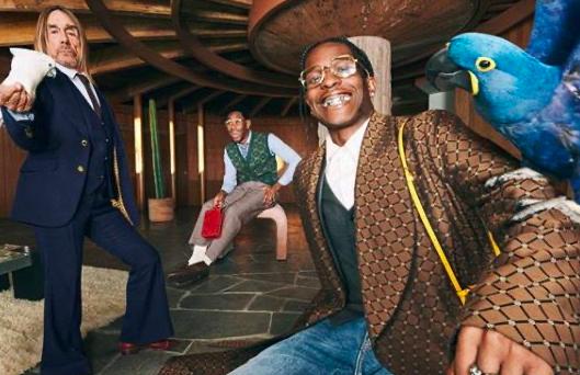 Raperos y roqueros protagonizan la nueva campaña de Gucci