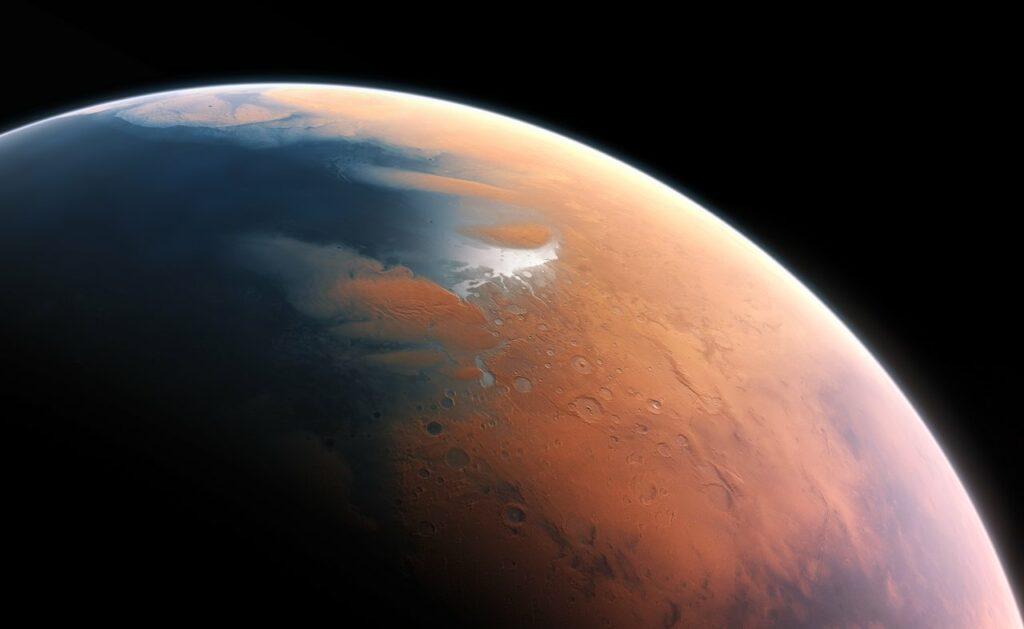 Bajo el polo sur del planeta Marte detectan lagos de agua salada
