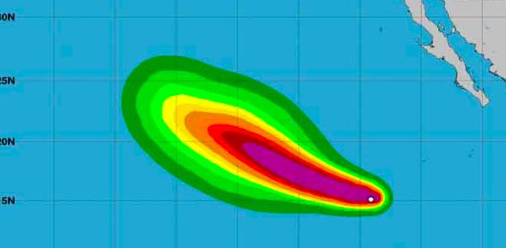 Huracán Marie sube a categoría 4 cada vez más lejos de las costas mexicanas