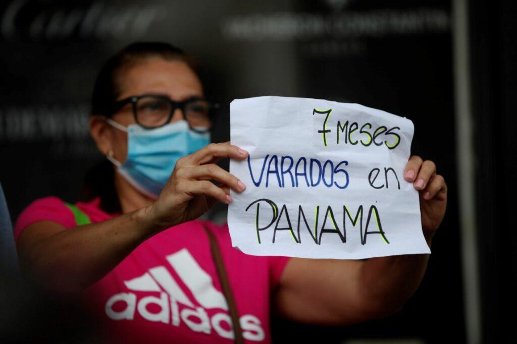Venezolanos varados en Panamá por covid-19 piden vuelo humanitario