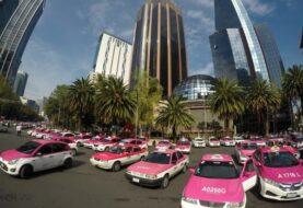 Taxistas protestan en Ciudad de México contra los chóferes de aplicaciones
