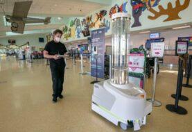 Aeropuerto de Cayo Hueso  estrena robot de desinfección contra el Covid-19