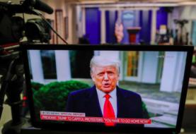 Trump pide a asaltantes del Capitolio volver a casa, pero insiste en fraude