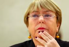 Bachelet pide solidaridad mundial con Birmania e informa de 45 detenciones