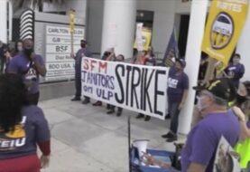 Trabajadores de la limpieza protestan en Miami por falta de seguridad laboral