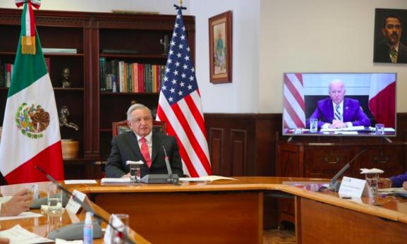AMLO y Biden satisfechos en su primer encuentro