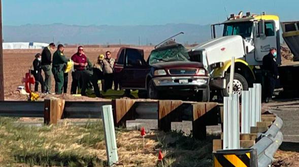 Al menos 15 muertos en un accidente en la frontera entre EE.UU. y México