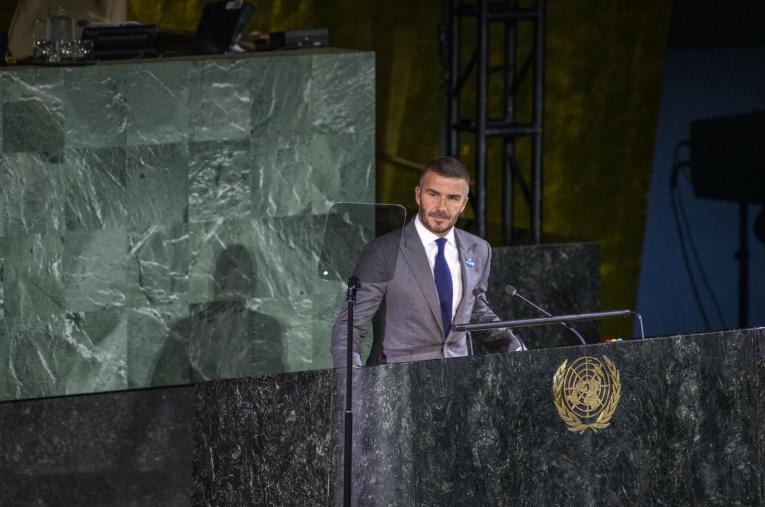 Beckham es la cara de la campaña de vacunación de la ONU