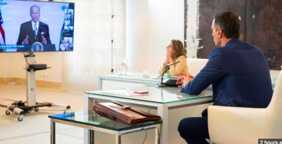 Sánchez afirma ante Biden que España lidera con el ejemplo la lucha climática