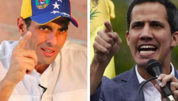 Guaidó celebra el apoyo del opositor Henrique Capriles a propuesta de acuerdo