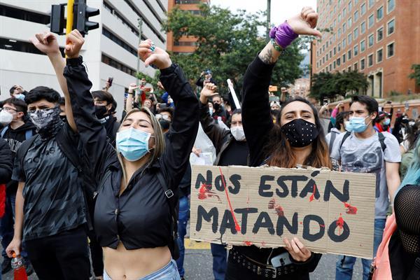 """Eurodiputados piden una """"salida pacífica"""" a la situación en Colombia"""
