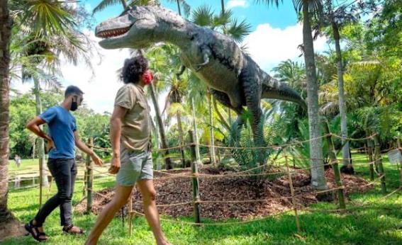 Botánico Fairchild de Miami es un jardín jurásico poblado de dinosaurios