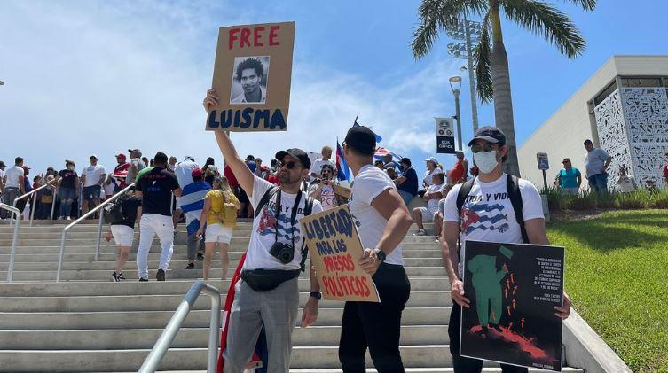 Disidentes cubanos se manifestaron contra el régimen