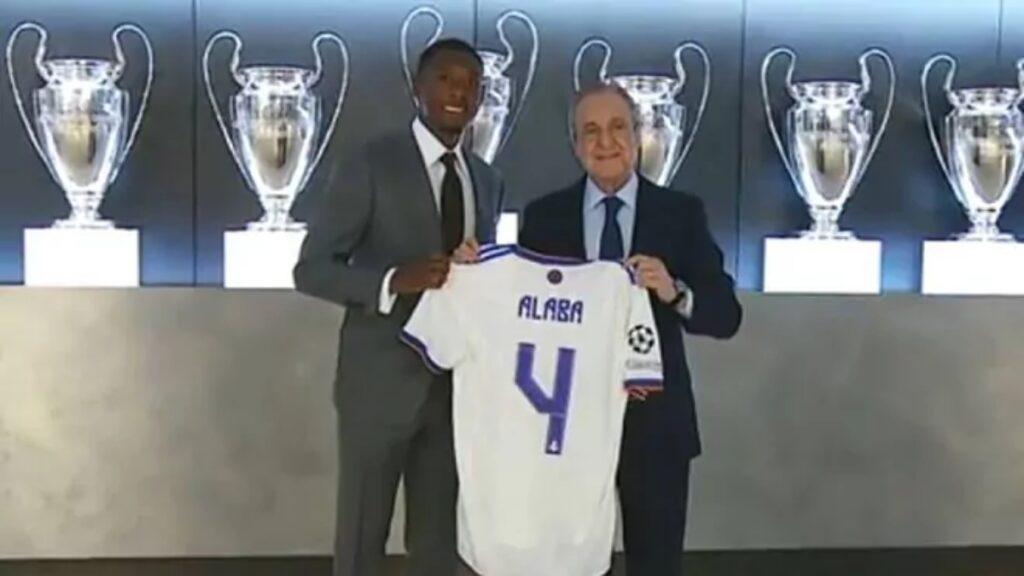Alaba fue presentado en el Real Madrid