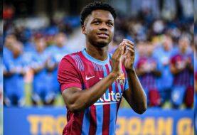 Ansu Fati vuelve a entrenar con el Barcelona