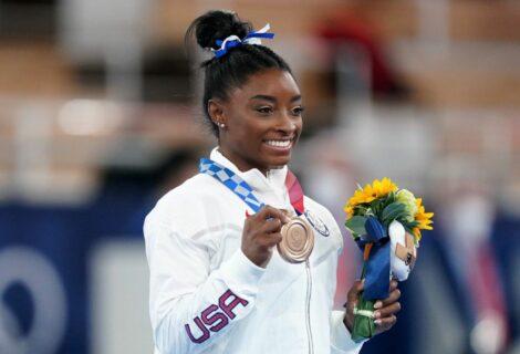 Simone Biles volvió y se colgó el bronce