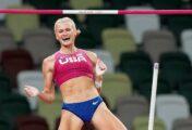 Katie Nageotte ganó oro en salto con pértiga femenina
