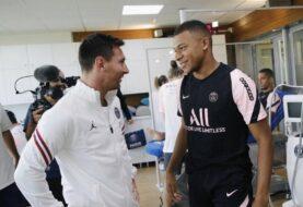 Messi y Mbappé se saludaron este jueves