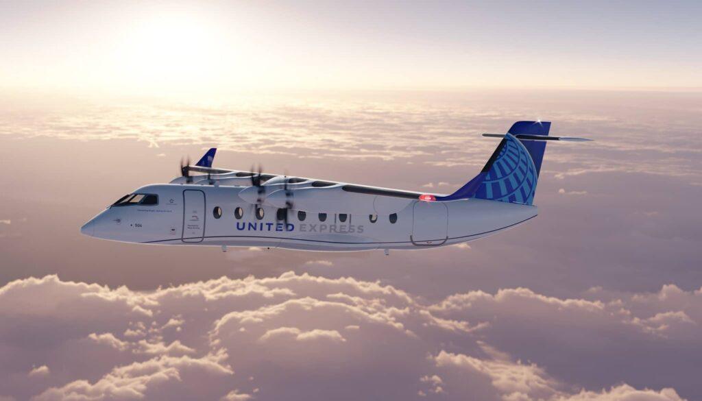 United Airlines muestra su nuevo avión eléctrico