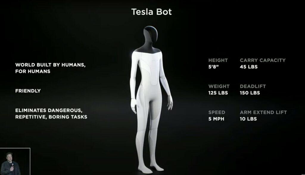 Tesla quiere fabricar un robot humanoide
