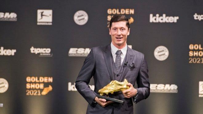 Lewandowski recibió la Bota de Oro