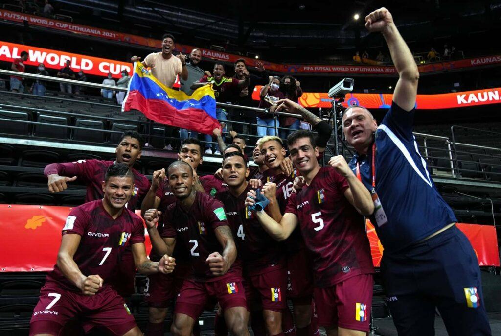 Venezuela clasificó a octavos del Mundial de Futsal
