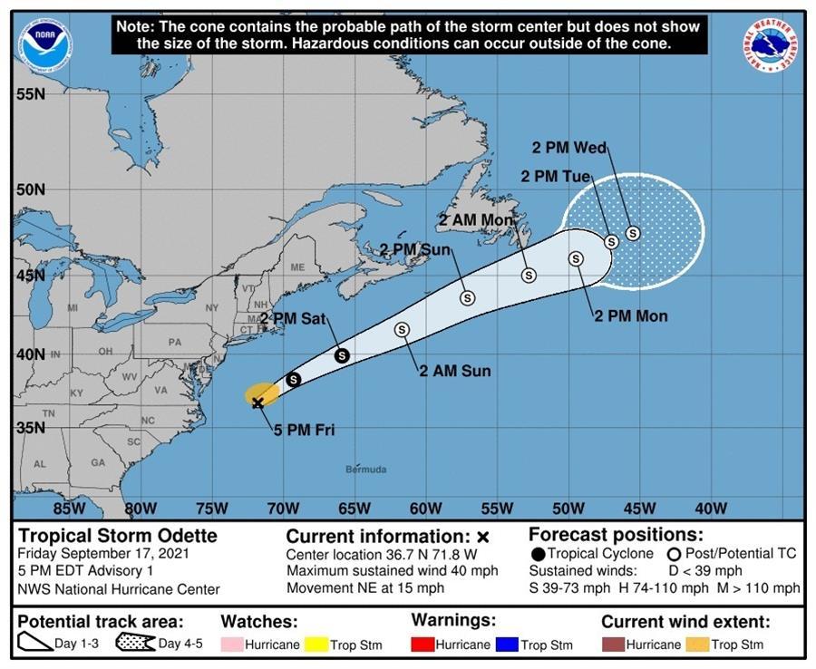 Odette ya viene formandose en el Atlántico
