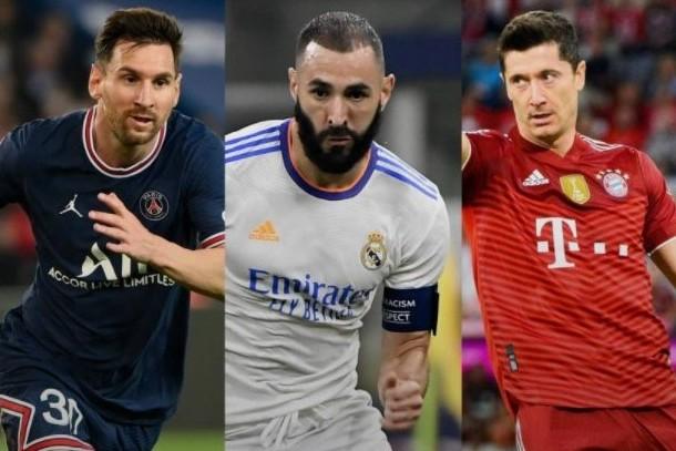 Messi, Benzema y Lewandowski, favoritos al Balón de Oro